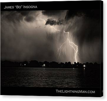 Lightning Energy Poster Print Canvas Print by James BO  Insogna