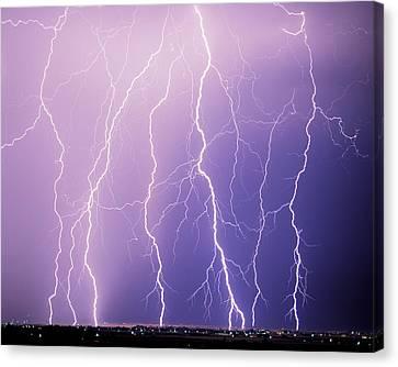 Lightning Canvas Print by Leland D Howard