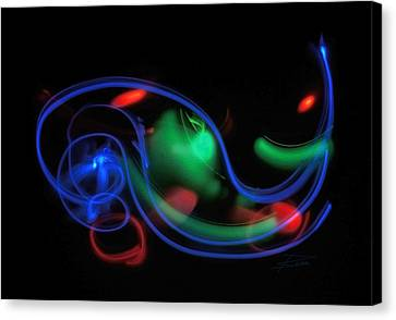 Lights In Motion Canvas Print by Barbara  White