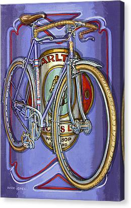Lilac Carlton Porteur Canvas Print by Mark Howard Jones