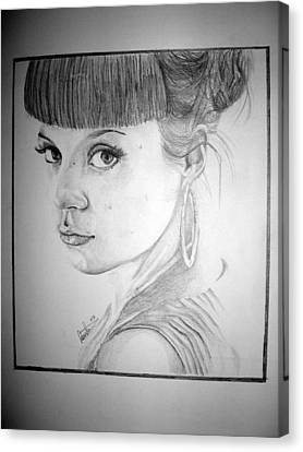 Lily Allen Canvas Print by Sean Leonard