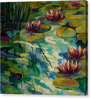 Lily Pond II Canvas Print by Marion Rose