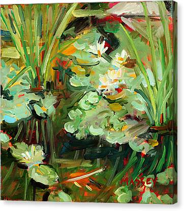Lily Ponderings Canvas Print by Marie Massey