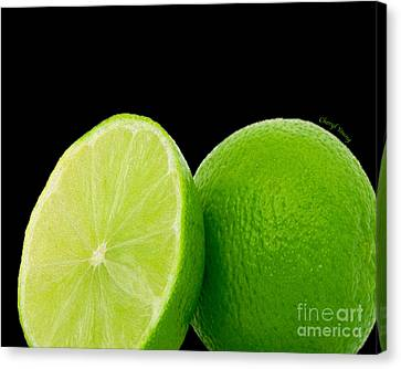 Limes Canvas Print by Cheryl Young