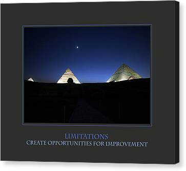 Limitations Create Opportunities For Improvement Canvas Print by Donna Corless