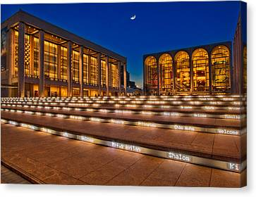 Lincoln Center At Twilight Canvas Print by Susan Candelario