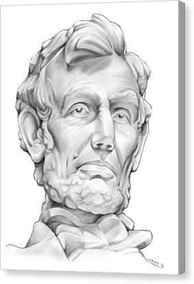 Lincoln Canvas Print by Greg Joens
