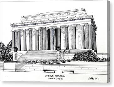Lincoln Memorial  Canvas Print by Frederic Kohli