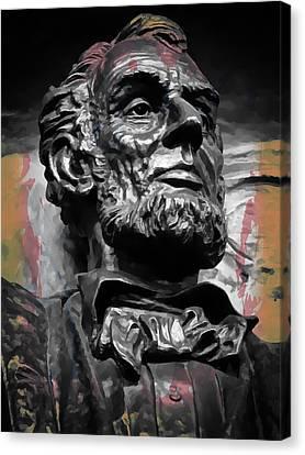 Lincoln Stoic Canvas Print by Daniel Hagerman