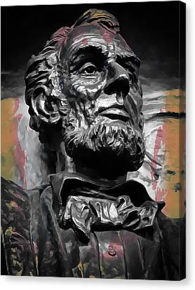 Lincoln Stoic Canvas Print by Daniel Hagerman
