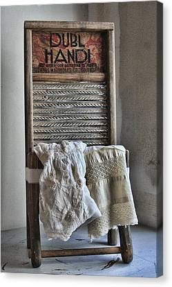 Linen And Lace Canvas Print by Marcie  Adams