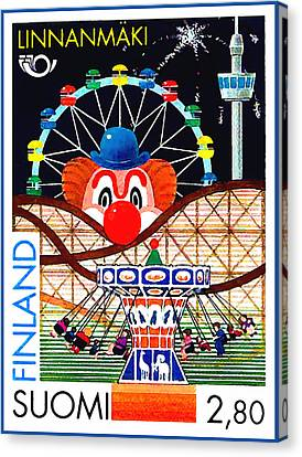 Linnanmaki Amusement Park Canvas Print by Lanjee Chee