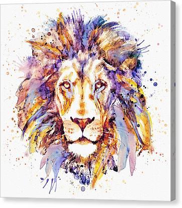 Lion Head Canvas Print by Marian Voicu