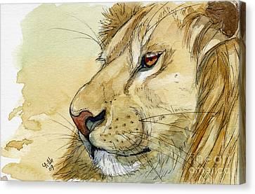 Lion Inspiration  Canvas Print by Svetlana Ledneva-Schukina