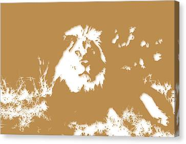 Lion Canvas Print by Joe Hamilton