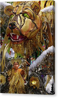 Lion King Of The Band At The Junior Caribana Parade In Toronto 2 Canvas Print by Reimar Gaertner