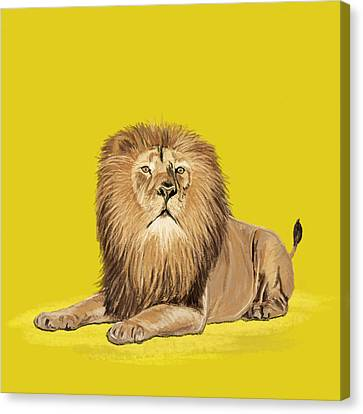 Lion Painting Canvas Print by Setsiri Silapasuwanchai