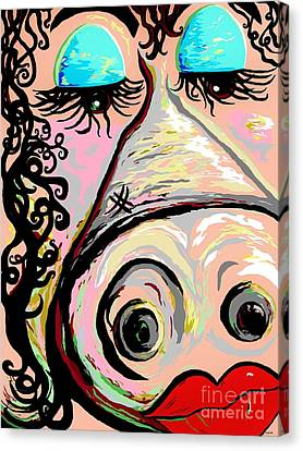 Lipstick On A Pig Canvas Print by Eloise Schneider
