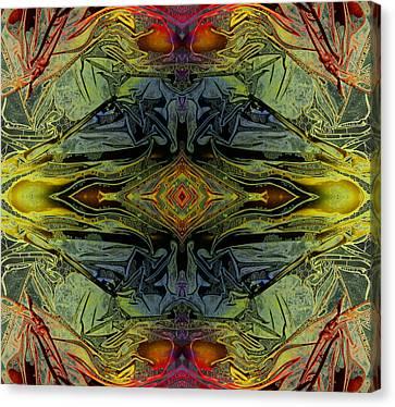 Liquid Decalcomania Mirror Canvas Print by Otto Rapp