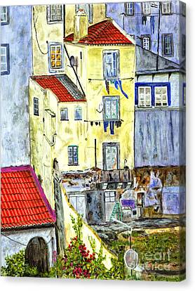 Lisbon Home Painting Canvas Print by Timothy Hacker