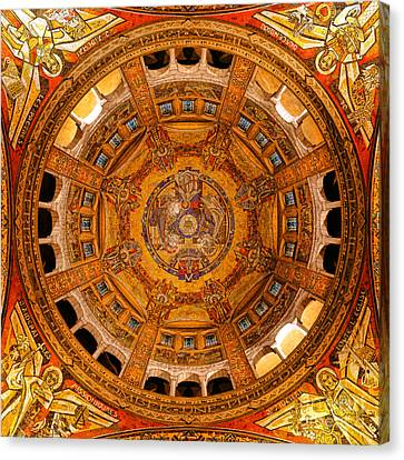 Lisieux St Therese Basilica Dome Ceiling Canvas Print by Olivier Le Queinec