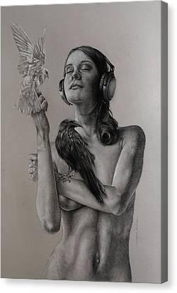 Listen 11 Canvas Print by Brent Schreiber