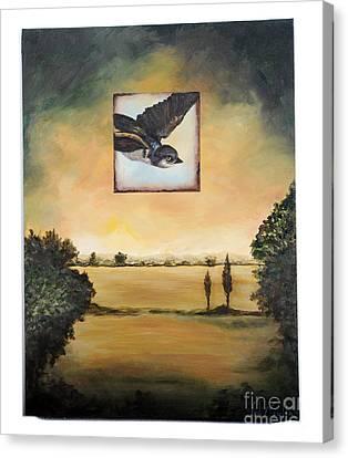 Little Blue Canvas Print by Lynda McLaughlin