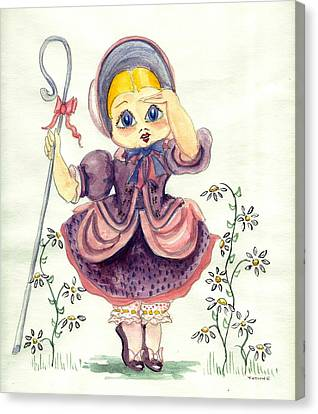 Little Bo Peep Canvas Print by Yvonne Ayoub