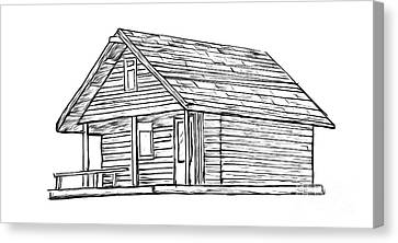 Little Cabin In The Woods Canvas Print by Edward Fielding