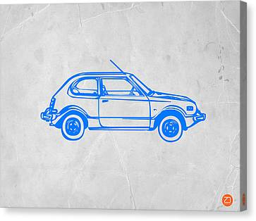 Little Car Canvas Print by Naxart Studio