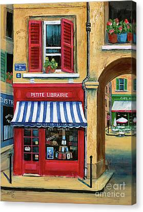 Little French Book Store Canvas Print by Marilyn Dunlap