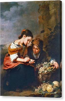 Little Fruit Seller 1670 Canvas Print by Padre Art