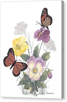 Little Heartsease Canvas Print by Stanza Widen