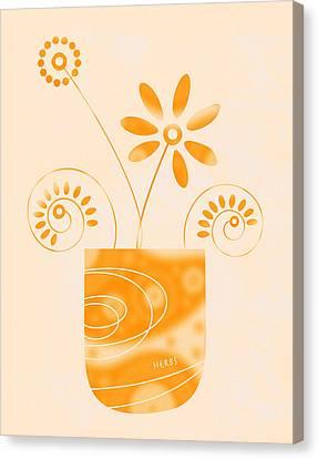 Little Herb Garden Canvas Print by Frank Tschakert