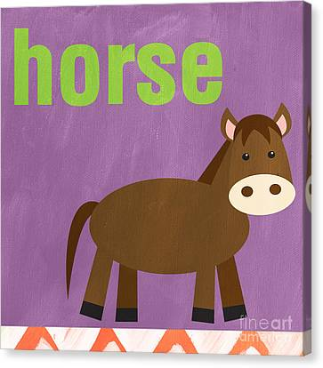 Little Horse Canvas Print by Linda Woods