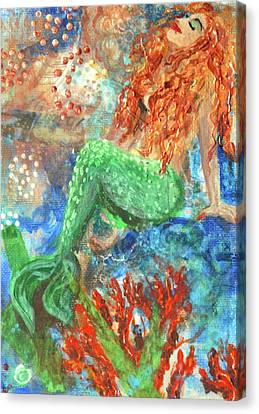 Little Mermaid Canvas Print by Jennifer Kelly