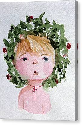 Little Miss Merry Canvas Print by Mindy Newman