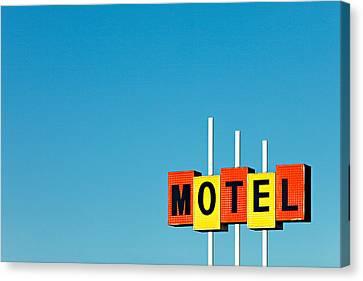 Little Motel Sign Canvas Print by Todd Klassy