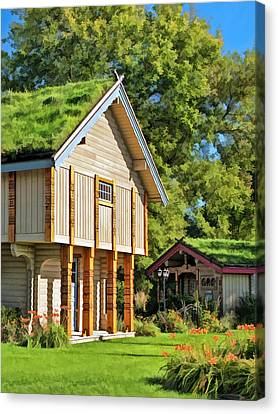 Little Norwegian Village On Washington Island In Door County Canvas Print by Christopher Arndt