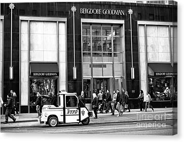 Little Nypd On 5th Avenue Canvas Print by John Rizzuto