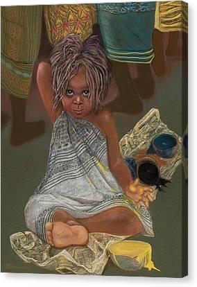 Little Painter Canvas Print by Pamela Mccabe