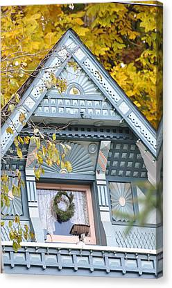 Little Pink Window Canvas Print by Jan Amiss Photography