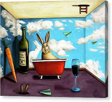Little Rabbit Spirits Canvas Print by Leah Saulnier The Painting Maniac