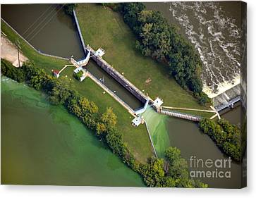 Little Rapids Lock Canvas Print by Bill Lang