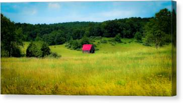 Little Red Barn Canvas Print by Karen Wiles