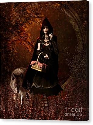 Little Red Riding Hood Gothic Canvas Print by Shanina Conway