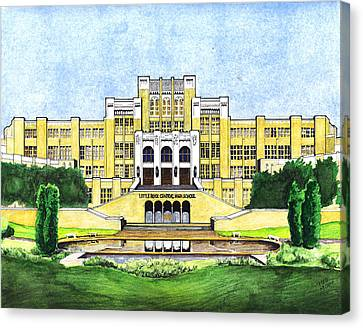 Little Rock Central High School Canvas Print by Yang Luo-Branch