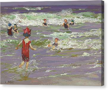 Little Sea Bather Canvas Print by Edward Henry Potthast