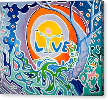 Live Love Canvas Print by Jaison Cianelli