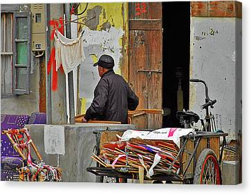 Living The Old Shanghai Life Canvas Print by Christine Till